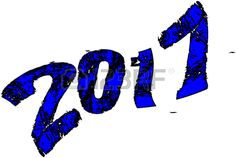 Happy New Year 2017 on a white background.