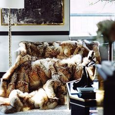 The fur would need to be recycled/vintage, but wow.