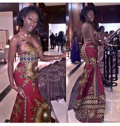 I love all these African print inspired prom dresses you all look gorgeous African Attire, African Wear, African Women, African Dress, African Inspired Fashion, African Print Fashion, Africa Fashion, African Prints, African Textiles