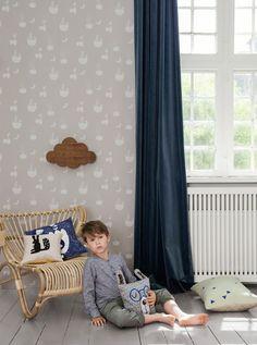 Paisaje imaginario en color gris | telas & papel