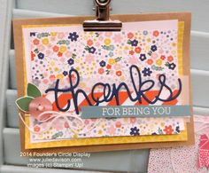 Stampin' Up! 2015 Occasions Catalog Sneak Peek: Crazy About You stamp set + Hello You Framelits #stampinup www.juliedavison.com