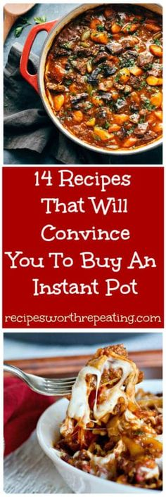 If you haven't jumped on the Instant Pot bandwagon yet, you are missing out! I've got 14 Instant Pot recipes that are beyond delicious, super easy to make and will speed up your prep and cook time like never before! #pasta #beef stew #oatmeal #cheesecake #chinese #instantpot #casseroles | recipesworthrepeating.com
