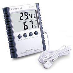 Keynice Thermomètre LCD digitale température/humidité pour intérieur/extérieur Wall Mount moniteur Capteur thermostat home office