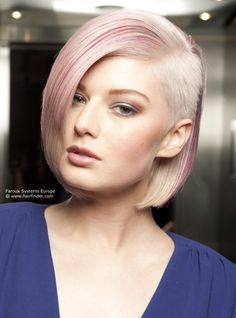 pastel pink and blonde undercut