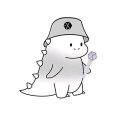 Funny Phone Wallpaper, Kawaii Wallpaper, Cute Cartoon Images, Cute Cartoon Wallpapers, Exo Cartoon, Exo Anime, Korea Wallpaper, Fandom Kpop, Exo Fan Art