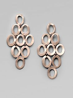 IPPOLITA Rosé Open Cascade Earrings make a big statement.They are $450 but sure to be a summer staple.