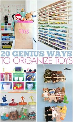 Toy storage and organization hacks that will take you from overwhelmed to organized! #toystorage #organization #organisation