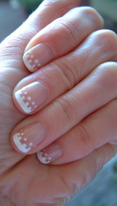 Dotted French manicure