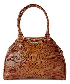 Love this Brown & Gray Alligator Tote by Vecceli Italy on #zulily! #zulilyfinds