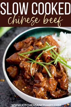 This Chinese beef recipe is served up with piles of fluffy white rice, chopped up spring onions, chilli flakes and some freshly chopped chillies for those that like a bit of heat. #chinesebeef #beef #spicychinesebeef #spicybeef