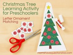 Christmas tree alpha match printable