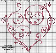 Coeur Arabesque (Arabesque Heart), designed by Passion Creative Blogger Isa.