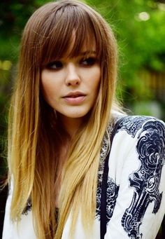 bangs straight hair ombre - Căutare Google
