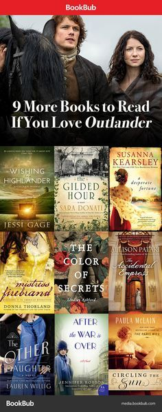 Outlander fans! Missing Jamie? There's something for everyone in these novels — political intrigue, time travel, revolution, and of course, hot book boyfriends.