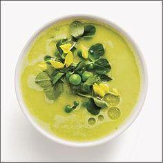 Fresh Pea and Garlic Gazpacho Recipe | MyRecipes.com