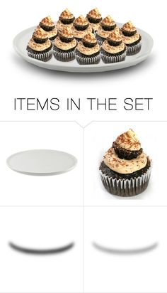 """""""Mo & the Girls Had Made Cupcakes for a Birthday Treat…Chocolate With Peanut Butter Icing, Topped With a Reese's Piece & Additional Icing…Which They All Happily Devoured After Brunch"""" by maggie-johnston ❤ liked on Polyvore featuring art"""