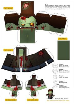 Make Your Own Paper Zombie