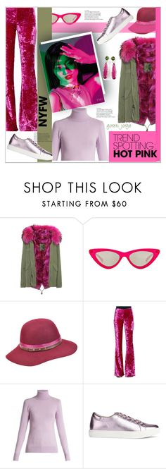 """""""Win It! NYFW Trend Spotting: Hot Pink"""" by goreti ❤ liked on Polyvore featuring Mr & Mrs Italy, Le Specs, Betmar, Jeremy Scott, JoosTricot, Amica, Kenneth Cole, contestentry, nyfwstreetstyle and nyfwrunwaytrends"""