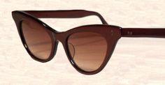 CLASSY Sunglasses BURGUNDY CaT'S EyE 1950 1960 par FeverVintage