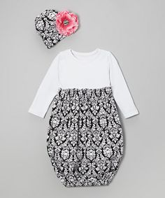 This Black Damask Gown & Beanie - Infant by Baby Gem is perfect! #zulilyfinds