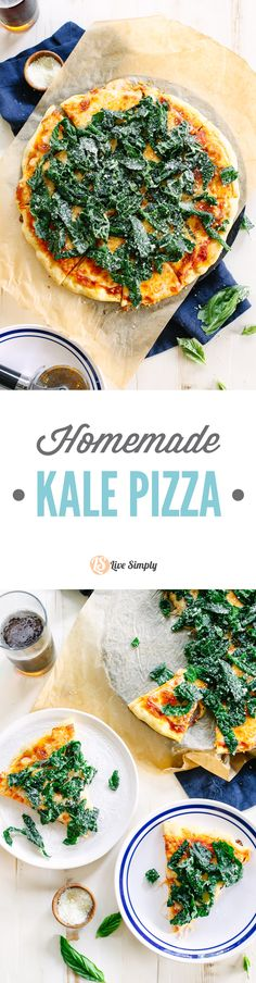 I'm not a huge kale fan, but this pizza is amazing! The kale has a lemon and garlic twist that pairs so well with the easy homemade pizza . Big family favorite! Feels gourmet, but it's super easy to make!