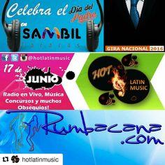#Repost @hotlatinmusic Atención #Caracas te invitamos este viernes 17 de junio a la Plaza Central de @tusambilccs a celebrar el #DíaDelPadre y a disfrutar de todo el talento de @rumbacana que junto al #TeamHotLatinMusic te harán entretener de una manera diferente . Acompáñanos de 4 a 6:30 pm en #SambilCaracas #MásQueUnCentroComercial #ViveHotLatinMusic #HotLatinMusic #Entretenimiento #Familia #Obsequios #Sorpresas #Web #Radio #Instacool #Instamoments . Visita y escucha: http://ift.tt/ZQKc75