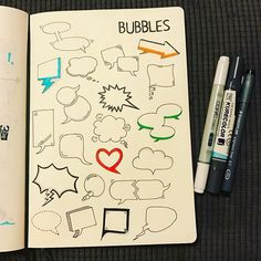 @therevisionguide Speech & thought bubbles, always useful and used all of the time! #revisionguide_52wvv #52wvv_week8 #doodles #sketching #cartoons #sketchnotes #visualthinking #leuchtturm1917 #copicmarkers #kurecolor #graphgear1000