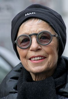 Smilla, 77 year old German blogger. Her glasses by the way are Lagerfeld, and 20 years old.