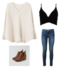 """""""Untitled #214"""" by ybba-do on Polyvore featuring MANGO, Boohoo, Frame Denim and American Eagle Outfitters"""
