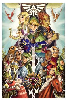 """imthenic: """"Tribute to the Legend of Zelda by Chrissie Zullo - Geek Art. Follow back if similar.- """""""