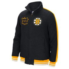 Reebok NHL Boston Bruins Full Zip Jacket - Black | Reebok US