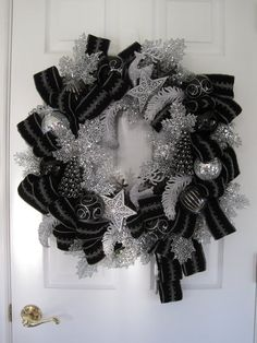 CONTEMPORARY BLACK /SILVER Christmas Holiday New by funflorals, $130.00