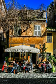 Cafe in Trastevere, Rome, Italy