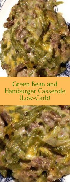 Green Bean and Hamburger Casserole (Low-Carb) . Green Bean and Hamburger Casserole (Low-Carb) carb recipes Low Carb Recipes, Beef Recipes, Cooking Recipes, Meatloaf Recipes, Chicken Recipes, Meatball Recipes, Shrimp Recipes, Low Carb Recipe With Hamburger Meat, Low Carb Hamburger Recipes