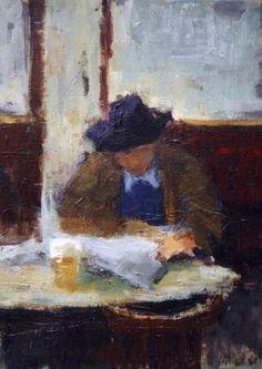 Artist Malie Baehr - Gentleman with Hat
