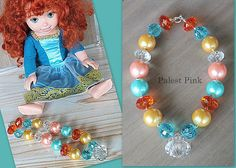 Chunky little girls Brave Necklace by PalestPink ... but it should be simple to make these