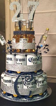 Boyfriend Gift Diy, Birthday Gifts For Boyfriend Diy, Presents For Boyfriend, Best Birthday Gifts, Birthday Diy, Boyfriend Ideas, Boyfriend Cake, Birthday Beer, Happy Birthday