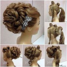 styles updo ideas ideas for wedding reception ideas layers ideas for dance competitions ideas to do at home ideas black hair colour ideas ideas for middle aged woman Special Occasion Hairstyles, Fancy Hairstyles, Bride Hairstyles, Peinado Updo, Pinterest Hair, Hair Dos, Unice Hair, Blonde Hair, Prom Hair