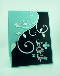 another variation of two tone card. Awesome idea for an inlaid card!