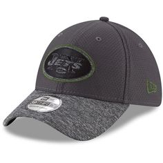 New York Jets New Era Popped Shadow Flex Hat - Graphite Heathered Gray. NFL  Caps   Hats 4100aec5a300