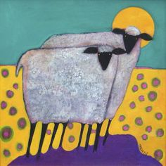 Sheepish by Leslie Trewyn. I can never have enough sheep :)
