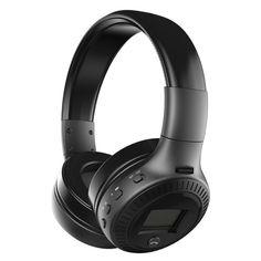 [US$23.99 ~ US$24.99] Zealot B19 Digital Display Stereo Tf Card FM Radio AUX Wireless Bluetooth Headset Headphone With Mic #zealot #digital #display #stereo #card #radio #wireless #bluetooth #headset #headphone