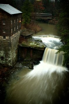 Near Youngstown State University: Lanterman's Grist Mill, Mill Creek Park, Youngstown, Ohio. Weekend Trips, Day Trips, Mill Creek Park, The Buckeye State, Buckeye Nut, Youngstown State, Old Barns, Le Moulin, Old Buildings