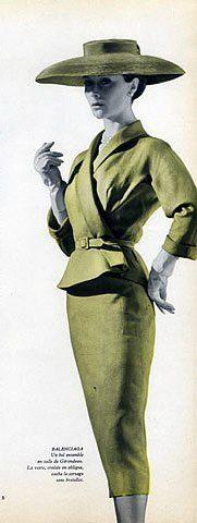 Balenciaga Summer Suit, par Maurie Daboux ¸. Moda Retro, Moda Vintage, Vintage Glam, Looks Vintage, Vintage Beauty, Vintage Style, Retro Style, Fifties Fashion, Retro Fashion