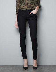 DENIM PITILLO STRECH - Pantalones - Mujer - ZARA