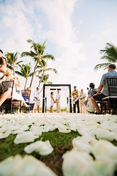 Traditional Beachfront Hawaiian Nuptials on Borrowed & Blue.  Photo Credit: Anna Kim Photography