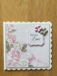 Hobby House, Baby Girl Cards, Birthday Cards For Women, Flower Cards, Cute Cards, Greeting Cards Handmade, Hugs, I Card, Card Ideas