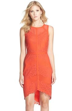 Adelyn+Rae+Lace,+Mesh+&+Chiffon+Sheath+Dress+available+at+#Nordstrom