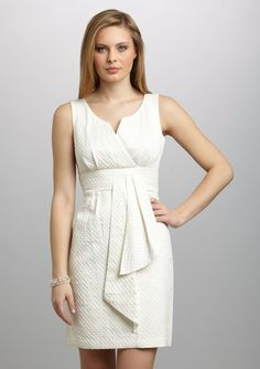 MAX AND CLEO  Peplum Front Jacquard Shift Dress. what a lovely cut.