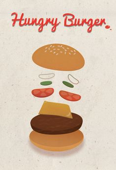 Hungry Burger on Behance